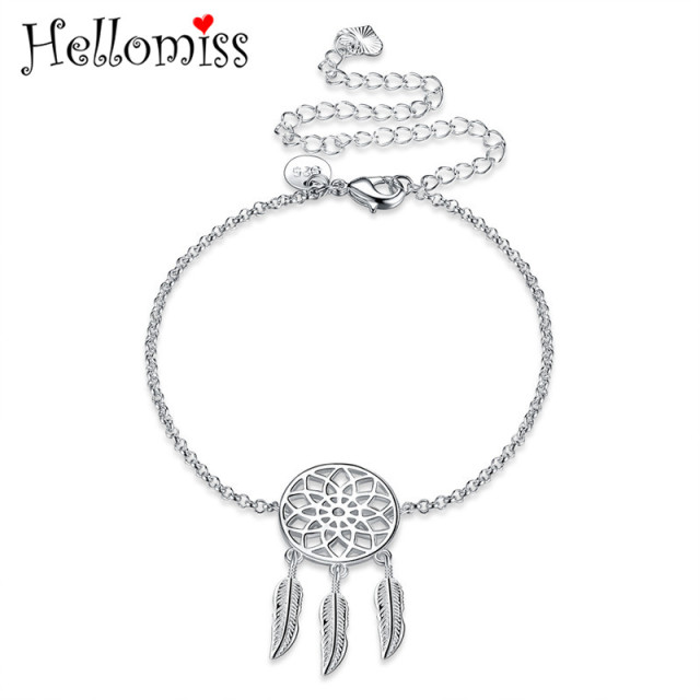 discovered next goods silver delicate anklet dream catcher marketplace