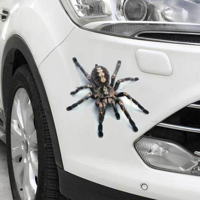 Image 2 - Spider Sticker Crawling Car Vehicle Truck Window Sticker Hood Decal 4 Pattern-in Car Stickers from Automobiles & Motorcycles