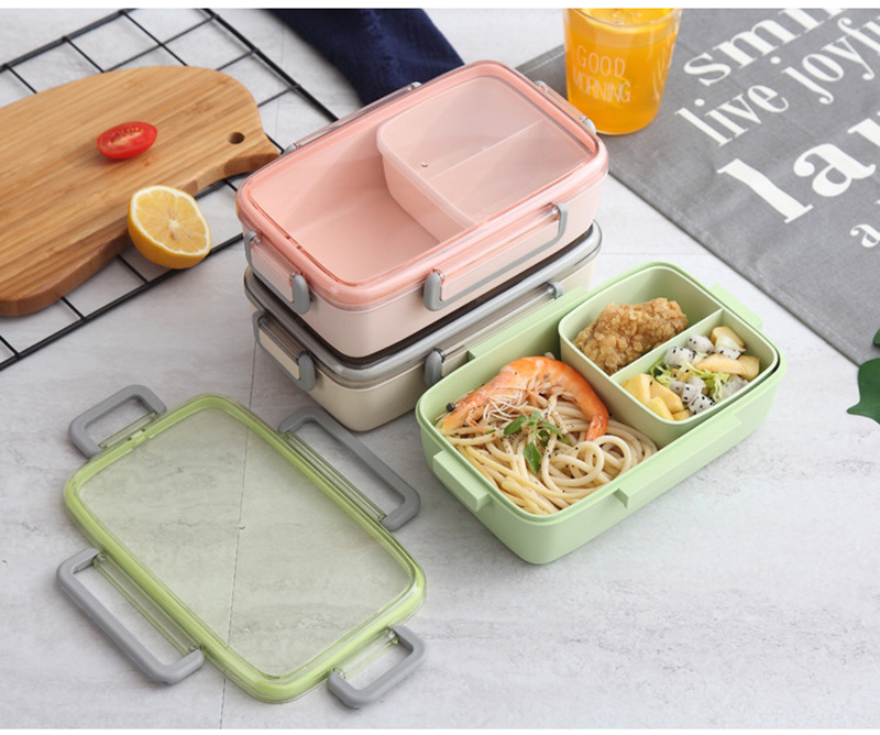 TUUTH New Microwave Lunch Box Independent Lattice For Kids Bento Box Portable Leak-Proof Bento Lunch Box Food Container A15
