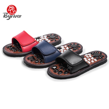 BYRIVER New Arrival Acupoint Reflexology Stone Shoes Health Care Foot Massage Slipper Acupuncture Relaxation Feet Massager