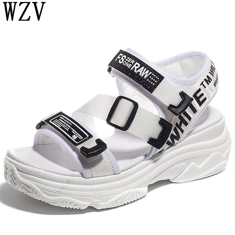Schuhe Frauen Sandalen Koreanische 2019 Neue Casual Frauen Sandalen Plattform Dicken Boden Sandalen Peep Toe Schuhe Frau Casual Schnallen Sandalen K04 In Vielen Stilen