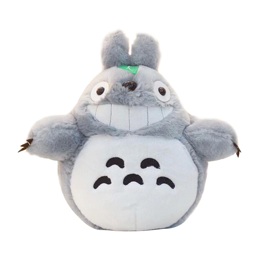 Hot Sale 60CM Famous Cartoon Totoro Plush Toys Smiling Soft Stuffed Toys High Quality Dolls Factory Price In Stock 1pcs 40cm 50cm hot sale japan rain umbrella totoro dolls stuffed plush toys dolls children gifts