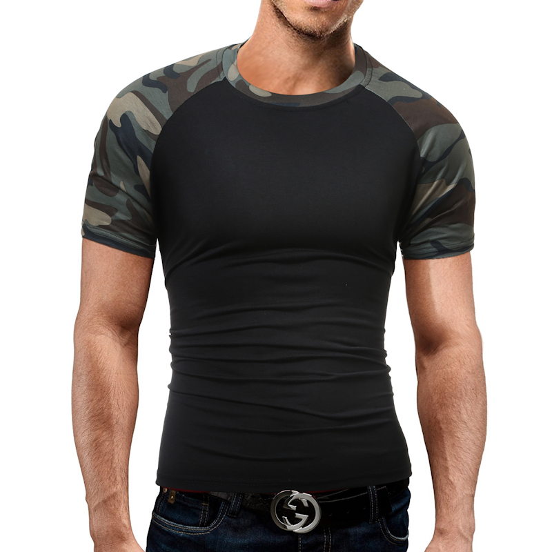 Brand Men S T Shirt 2017 Summer Splicing Fashion O Neck Short Sleeved Tees Male Casual