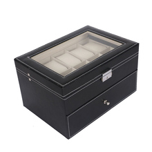 6/10/20/24 Grids Watch Display Case PU Leather Storage Box Jewelry Organizer Hot Sale цена и фото