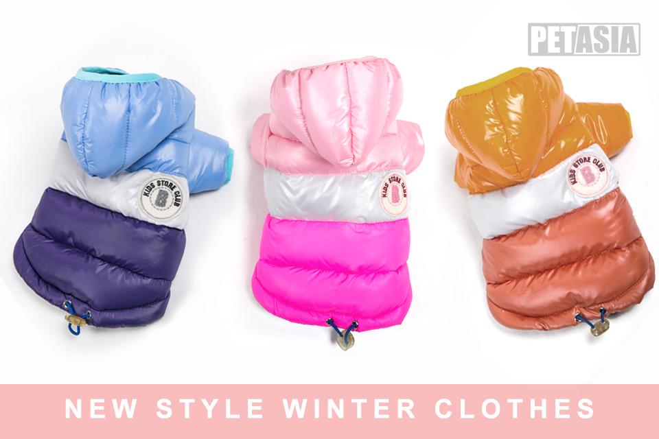 Winter Pet Dog Clothes Waterproof Warm designer Jacket Coat S -XXL Sport Style Puppy Hoodies Hat for Small Medium PETASIA 01