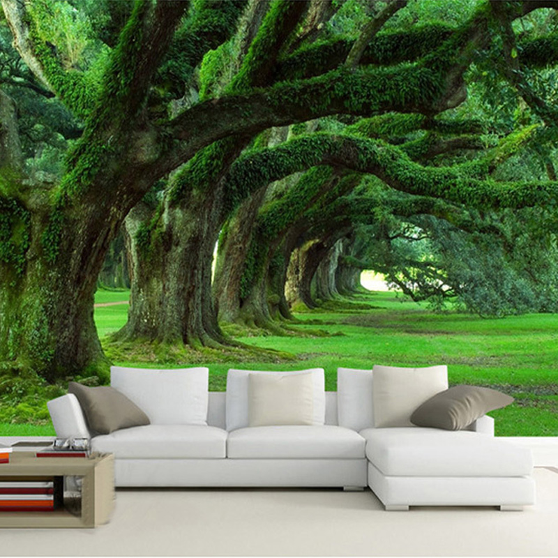 Customized Any Size Wallpaper 3D Modern Natural Landscape Design Forest Mural Bedroom Living