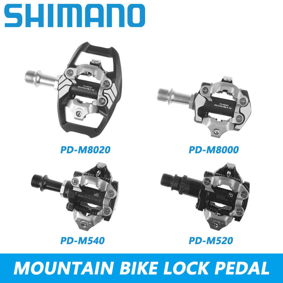 Shimano PD M520 SPD Pedal MTB Mountain Bike Pedal M540 Self Lockings Clipless Pedals M8000 M8020 Bike Parts With PD22 SH51 cleat-in Bicycle Pedal from Sports & Entertainment