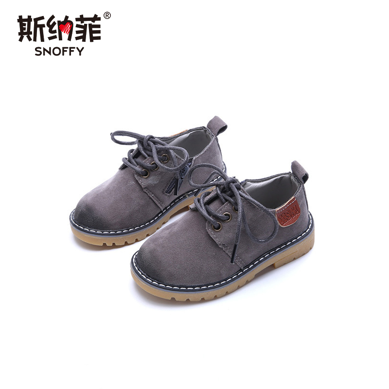 2018 boys and girls casual shoes British retro wear anti-velvet big scalp shoes baby shoes