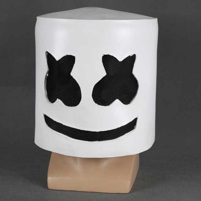 Halloween Cosplay Mask Marshmello Helmet Latex Mask Costume Props