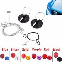 Triclicks Universal CNC Billet Aluminum Racing Hood Pin Appearance KIT Car Hood Pin Lock New Black Sliver Gold Blue Purple Red