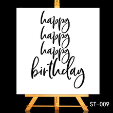 ZhuoAng Birthday greeting/Blessing Transparent and Clear Stamp DIY Scrapbooking Album Card Making Decoration