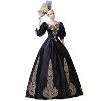 Принцесса костюм эпохи Возрождения женское платье наряды костюм для вечеринки маскарад/бальное платье суд Формальное вечернее платье