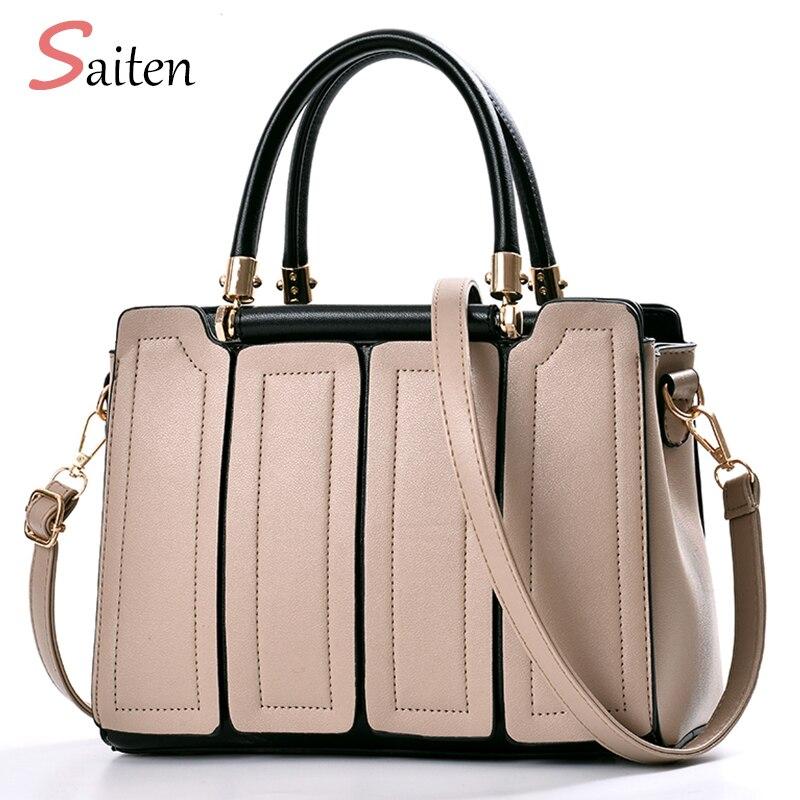 Famous Brand Women Bag PU Leather Tote <font><b>Handbags</b></font> New Fashion Shoulder Bags Woman Crossbody Bag 2018 New Frauen Tasche Luxus Marke