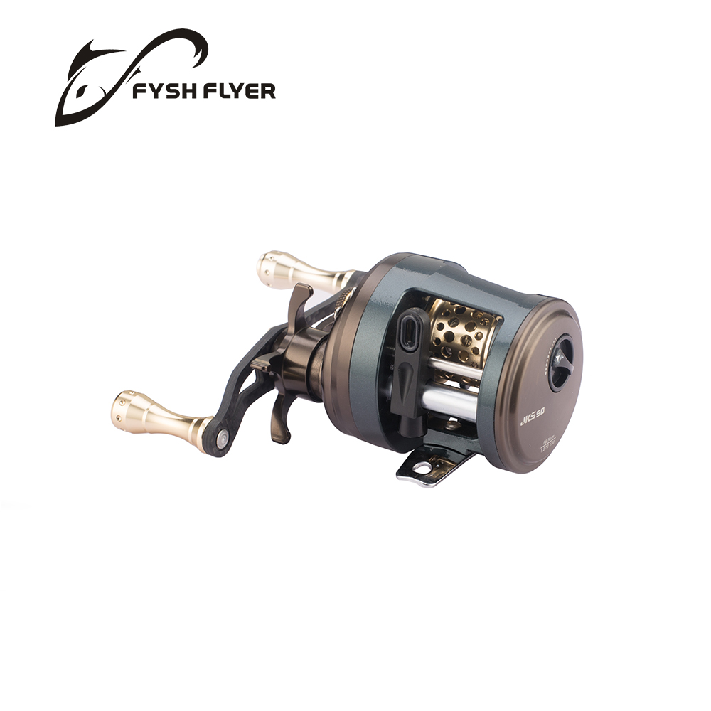 Baitcasting Fishing Reels, Carbon Handle, Metal Spool and Bearings, 7+1BB, Stainless Steel Shaft, High Speed Ratio 6.2:1