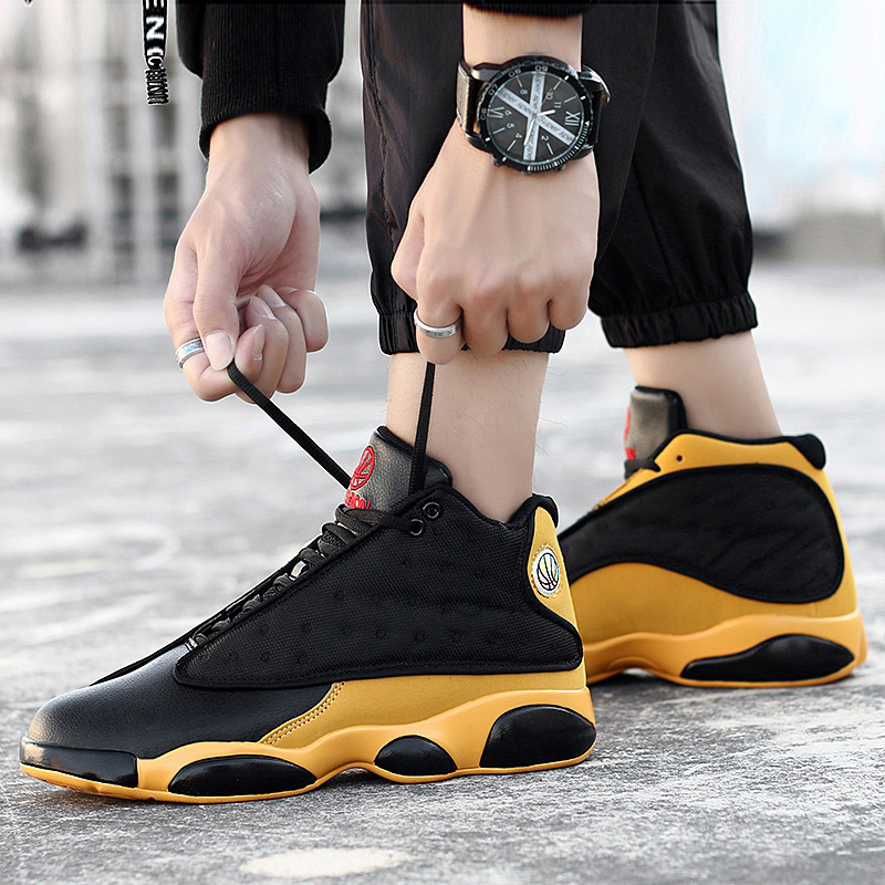 2019 New Style Breathable Basketball Shoes Mens Boys High Top Shockproof Sneakers Non-slip Jordan Basket Shoes Zapatillas Hombre(China)