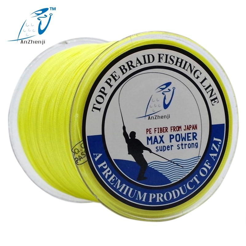 AZJ FISHING 브랜드 8X 300M 일본 멀티 필라멘트 PE 꼰 낚시 줄 8 가닥 최대 꼰 와이어 peche 15 30 40 50 80 100 200LB