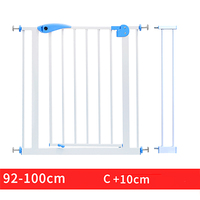 66~84cm Babysafe iron Gate Child Baby Stair Fence Pet Dog Grid Railing Isolating garden gate