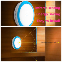 Infrared PIR Motion Sensor Led Night Light Wireless Detector control Auto On/Off wall Lamp for Closet Corridor Cabinet WC