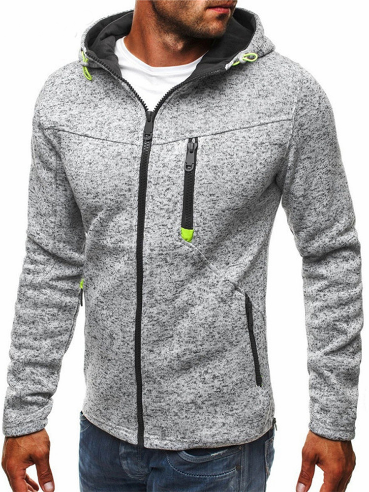 Covrlge Zipper Sweatshirt Tracksuit Hoody Male Solid-Color Mens Personality Fashion MWW146