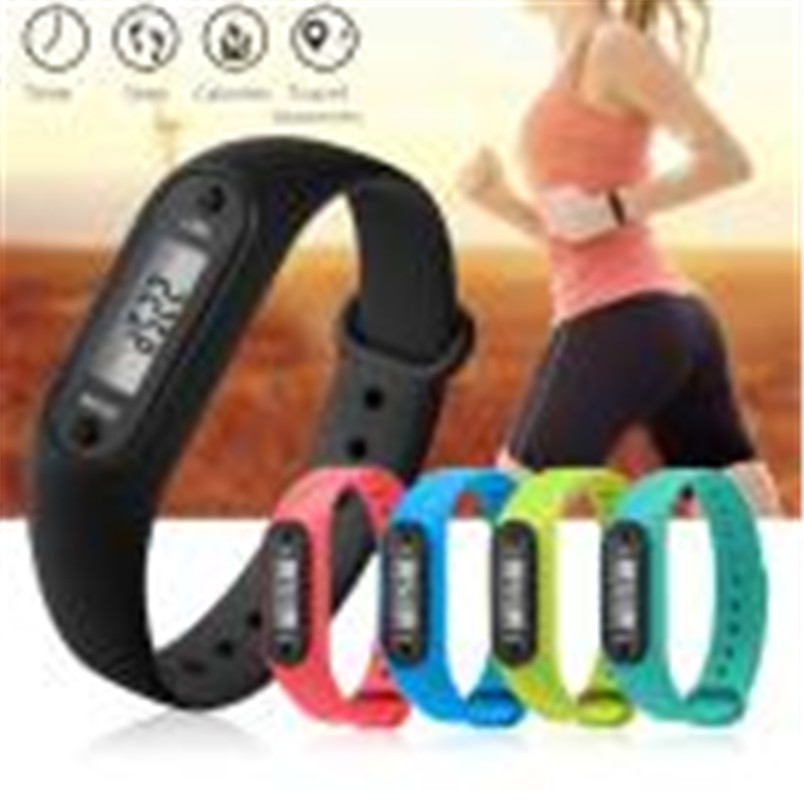 Digital Watch Run Step Watch Bracelet Pedometer Calorie Counter Digital LCD Walking Distance Gift Dropship