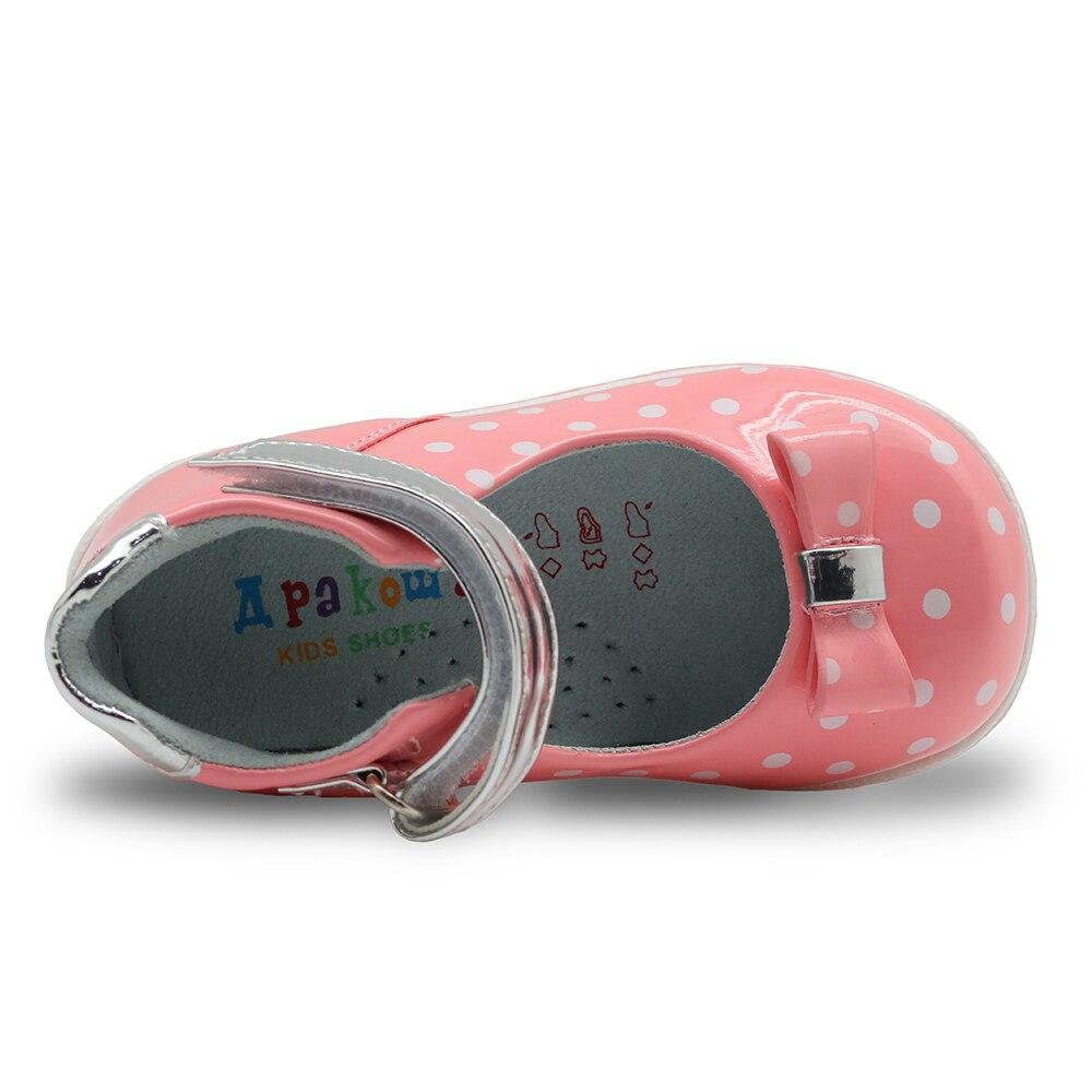 Image 5 - Apakowa Princess Girls Closed Toe Polka Dot Sandals Toddler Kids All Seasons Black Mary Jane Shoes Kids Pink White Dress Shoeschildren sandalsgirls sandalssandals designer -