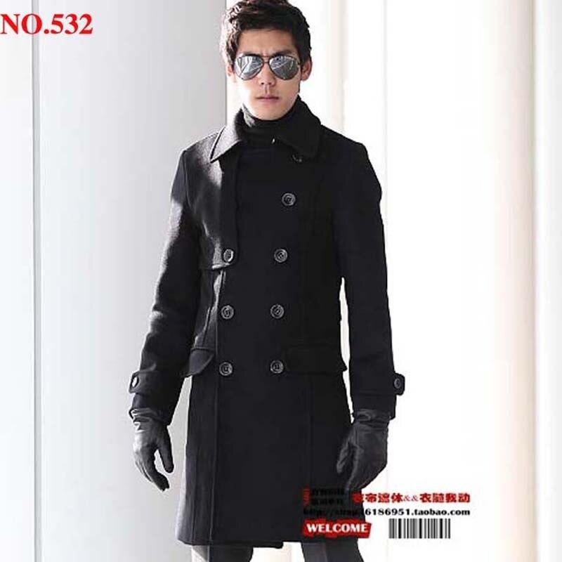 Livraison gratuite printemps mode laine survêtement élégant classique longue conception hommes laine manteau vêtements/s-xxxl
