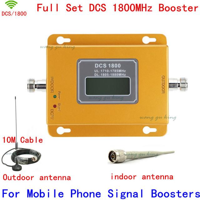 El más nuevo Mini LCD 2G 4G LTE 70dB GSM DCS 1800 MHz Teléfono Móvil Repetidor de Señal, celular amplificador de señal con la antena de interior al aire libre