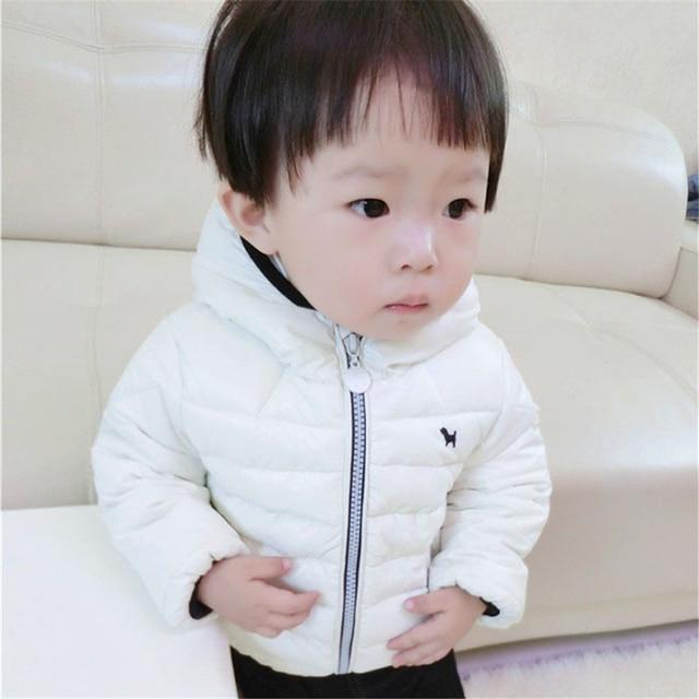 2017 Winter Baby Boys&Girls Warm Down Jackets Children's Hooded Outerwear Toddler Horse Coat Down Cotton Kids Boys Parka 12M-4Y