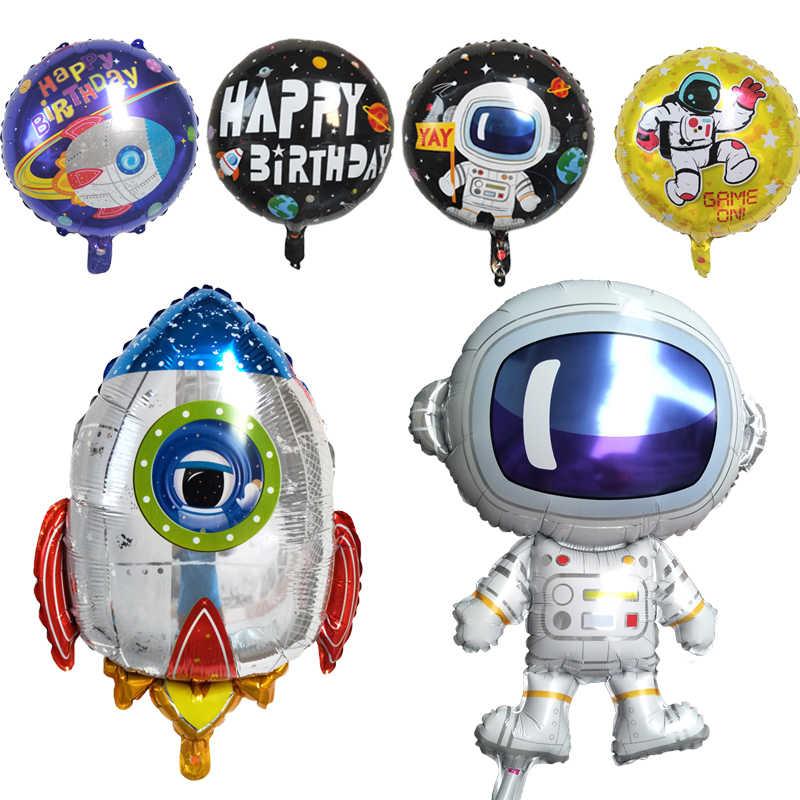 1 шт. гигантские ракета астронавт фольги воздушные шары для маленьких мальчиков супер герой Сувенирные игрушки с днем рождения вечерние украшения дети внешний космический шар
