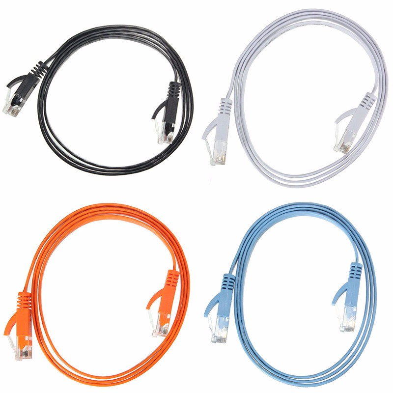 New Arrival Ethernet CAT6 Internet Network Flat Cable Cord Patch Lead RJ45 For PC Router  недорого