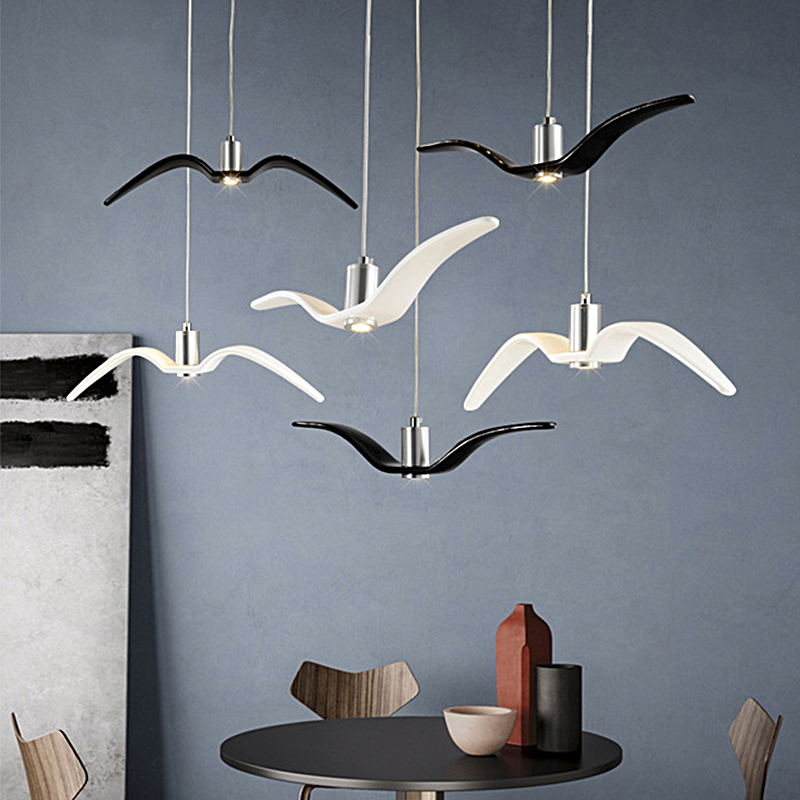Modern LED Chandelier Light Seagull Chandelier Hanging Lamp for Living Room Bedroom Dining Room Creative Bird Home Decoration led modern creative chandelier lights personality seagull chandelier lamp loft bar dining room suspension home decoration design