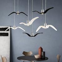 Modern LED Chandelier Light Seagull Chandelier Hanging Lamp for Living Room Bedroom Dining Room Creative Bird Home Decoration