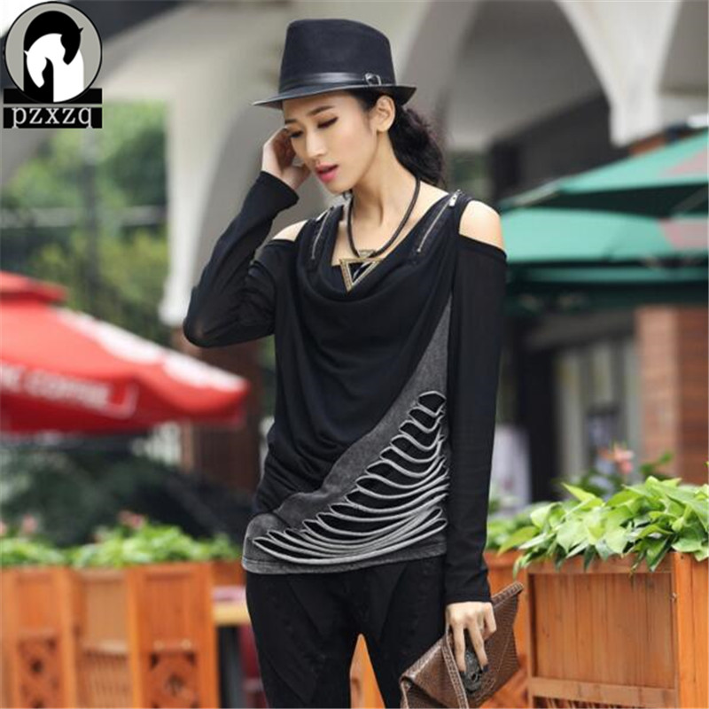 Hipster womens tops fashion 2017 Sexy summer women clothing Black Trend off Shoulder Sleeve plus size women shirts 2 style