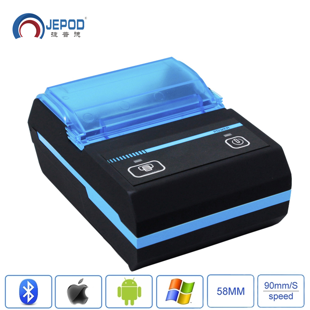 JP-5806LYA 58mm Portablle Android Bluetooth Thermal Printer Receipt Printer For Mobile POS Printer With Bluetooth Ticket Printer