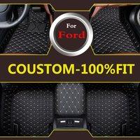 Auto Interior Carpet Car Floor Mats For Ford Focus Mk2 Mk3 Edge Escape Kuga Fusion Mondeo
