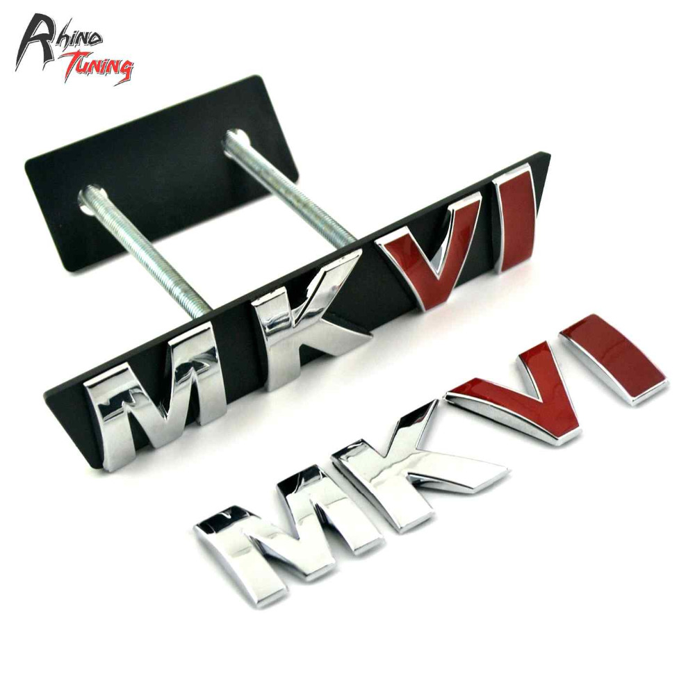 Rhino Tuning MKVI Auto Styling MK Series Front Grille Grill Badge Sticker For Bora Vento Jetta Golf MK6 MKVI Car Emblem 780 metal red st front grille sticker car head grill emblem badge chrome sticker for ford fiesta focus mondeo auto car styling