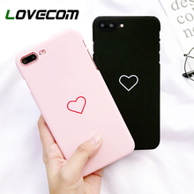 LOVECOM Love Heart Painted Graphic Phone Case For iphone 5 5S 6 6S 7 8 Plus X Couples Back Cover Ultra Thin Matte Hard PC Coque