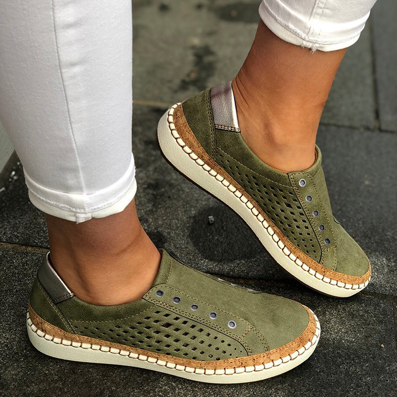 2019 Breathable Women Vulcanized Shoes Summer Women Casual Shoes Fashion Hollow Out Women Sneakers Lightweight Flats Torridity(China)
