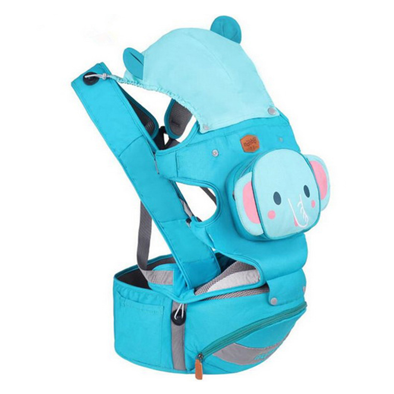 цена 3-36 Months Breathable Front Facing Baby Carrier Cute Cartoon 4 in 1 Infant Kids Comfortable Sling Backpacks Pouch Wrap 5 Colors