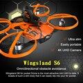 Wingsland s6 rc drone drone para bolsillo selfie cámara wifi fpv con 4 k uhd completo de evitación de obstáculos