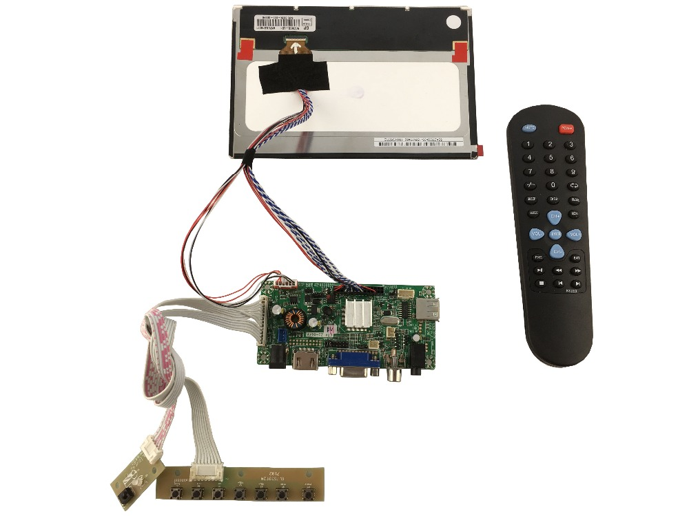 HDMI+AV+VGA+Audio of LCD controller board +N070ICG-LD1 1280*800+LVDS cable+OSD keypad  +Remote control with receiver hdmi vga 2av lcd controller board with 7inch n070icg ld1 39pin reversal1280x800 ips touch lcd
