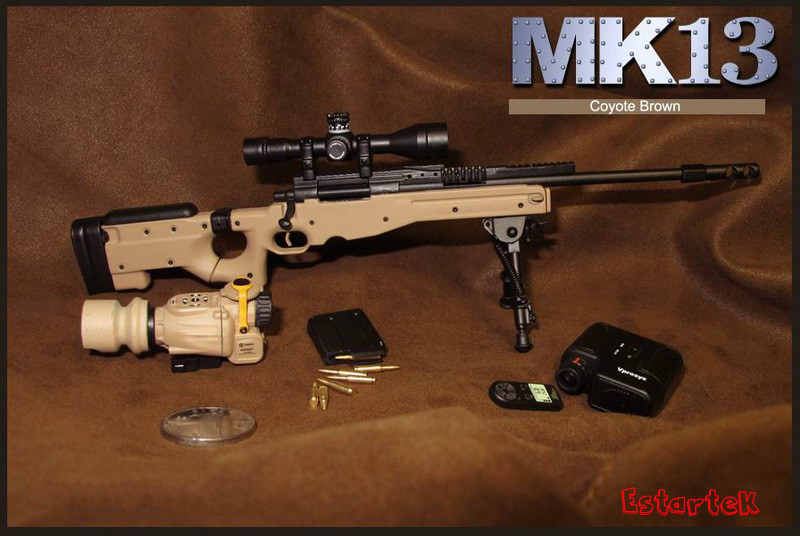 1:6 Scale Boxed Sniper Rifle w//bi-pod /& Scope kit