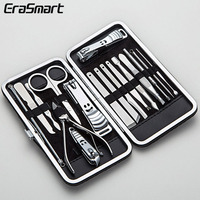Fine stainless steel 17 piece rofessional manicure set nail clippers hand tool set with pu bags sale