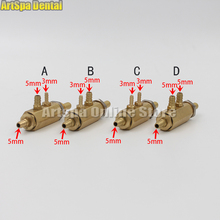 5PCS Dental Chair Unit 4 Holes Standard foot valve Circular Pedal 4 holes foot control switch valve