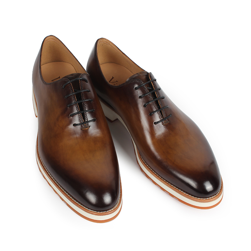 Vikeduo 2019 Handmade Retro buty moda luksusowe formalne wesele mężczyzna sukienka buty z prawdziwej skóry mężczyźni Oxford patyna Zapatos w Oxfordy od Buty na  Grupa 2