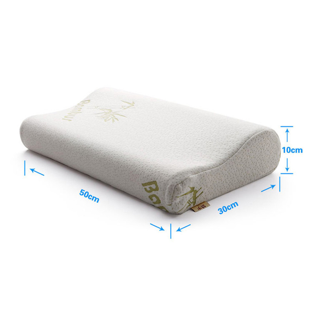 New Arrival Memory Pillow Famous Sleep Neck Pillows For Sleeping Hot Pure Color With Bubble 30*50 cm Single Size Pillows  HH1552