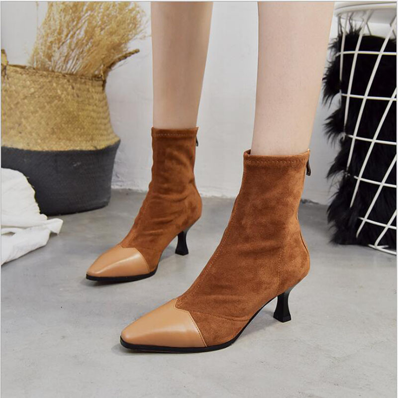 Leather Thin Heels Office Shoes New Arrival Women Pumps Fashion High Heels Shoes Women's Pointed Toe Sexy Shoes Shallow 6