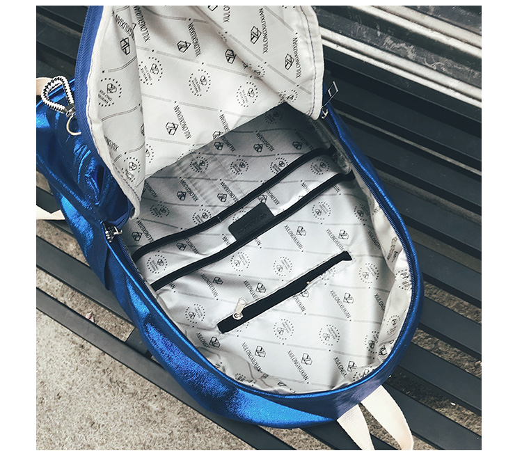 The Glossy Backpack Gold Shiny Waterproof Nylon School Bag For ... eb2853a6d6f04