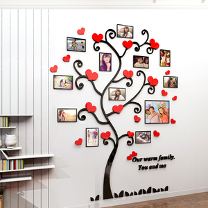 Image 2 - Autocollant mural avec miroir en acrylique, décoration murale originale pour salon et photo en 3D