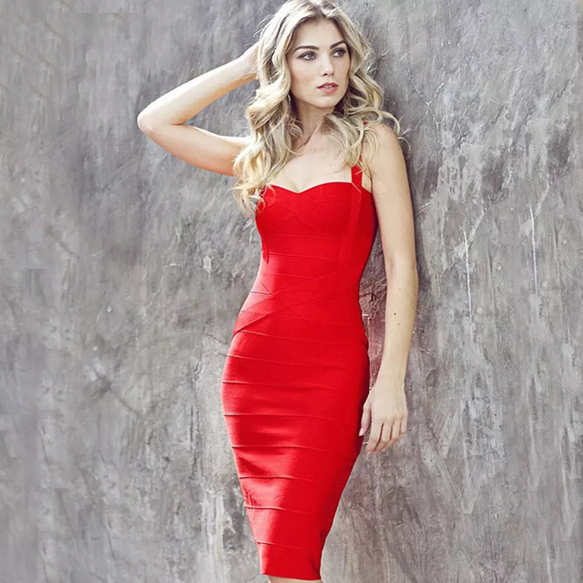 a907828592e4 2019 summer new white midi bandage dress women's sexy spaghetti belt dress  nightclub celebrity party club